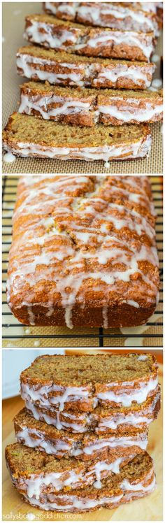 Amazing Cinnamon Swirl Banana Bread. Moist, tender, swirled with cinnamon, and topped with vanilla glaze.