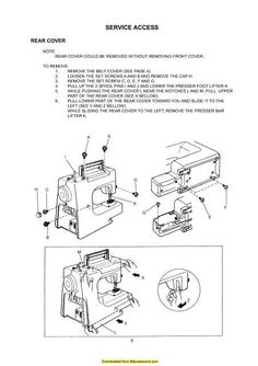 Janome New Home JD 1804 Sewing Machine Service-Parts