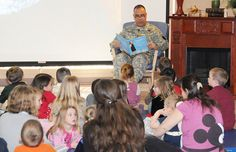 "Tell Me A Story: Maj Gen. Anthony G. Crutchfield reads ""Mercedes and the Chocolate Pilot: A true story of the Berlin Airlift"" by Margot Theis Raven at Ft. Rucker.  Look for MCEC's Tell Me A Story in your community!"