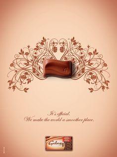 Galaxy Milk Chocolate Illustration