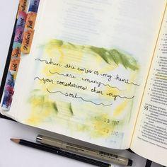 "87 Likes, 1 Comments - Melanie (@biblejournalingdaily) on Instagram: ""{ Psalm 94:19 - #30daysofbiblelettering } #biblejournalingdaily #bibletabs #biblejournaling…"""