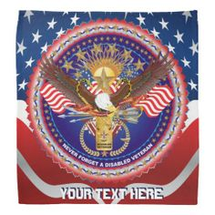 "Bandana There are 2 styles 1 Full and 1 w/2 Designs. 37 Colors Plus. Design is tribute to veterans and families Cost to create My image $200.00 to $500.00, Your cost ""FREE!"" on Zazzle Why? Because you don't have to pay for my services! 30 or more background colors and styles on most products. All designs are Hi-resolution images."