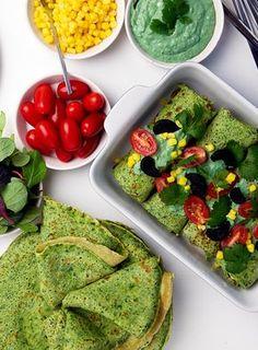Spinatpandekager med hjemmelavet tunsalat og guacamole, www.bydianawi.com