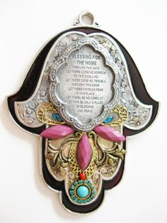 Hamsa Blessing Home handmadeGift from Israel by IrinaSmilansky, $75.99