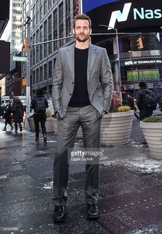 Actor <a gi-track='captionPersonalityLinkClicked' href=/galleries/search?phrase=Gabriel+Macht&family=editorial&specificpeople=240398 ng-click='$event.stopPropagation()'>Gabriel Macht</a> rings the Nasdaq Opening Bell at NASDAQ MarketSite on January 28, 2016 in New York City.