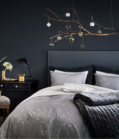 Patterned Duvet Cover Set | Gray/stars | Home | H&M US
