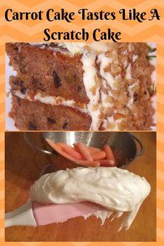 Carrot Cake Tastes Like A Scratch Cake Cake Mix Carrot Cake Recipe, Cake Mix Recipes, Baking Recipes, Dessert Recipes, Cake Mixes, Recipes Dinner, Pasta Recipes, Crockpot Recipes, Soup Recipes