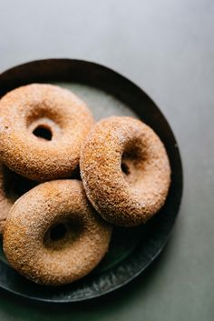 Cinnamon Apple Cider Donuts (grain-dairy-refined sugar-free) with Almond Flour & Coconut Flour| dolly and oatmeal