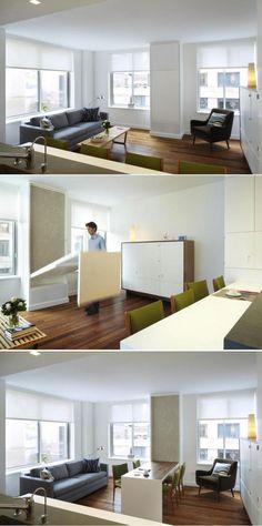 Lits escamotables et lits mezzanines meubles gain de for Table a manger gain de place