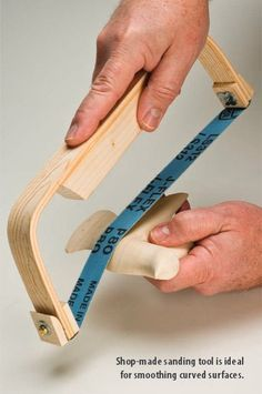 Sanding Curved Objects! For more great woodworking tips visit http://www.handymantips.org/category/woodworking/