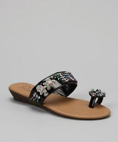 Take a look at this Bumper Black Candis-02 Sandal by Bumper on #zulily today!