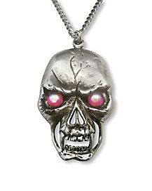 Large Skull Necklace - Accessorize your costume with the Large Skull Necklace and you'll surely have that foreboding look you want. This silver, chain features a sil Skull Necklace, Pendant Necklace, Halloween Accessories, Spirit Halloween, Halloween Makeup, Halloween Decorations, Brooch, Costumes, Chain