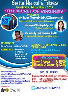 "Seminar Nasional & Talkshow ""The Secret Of Virginity"""