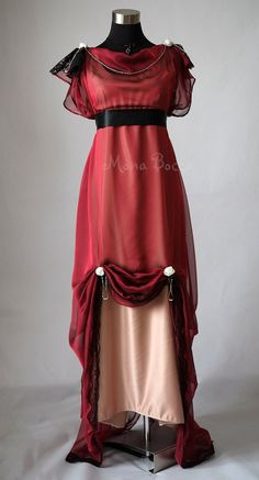 Hey, I found this really awesome Etsy listing at https://www.etsy.com/listing/229226872/edwardian-plus-size-wine-evening-dress