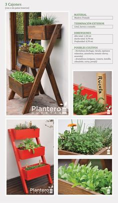 Plantero Huertas: Huertas Escalonadas Triples