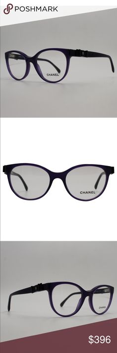 42f51128a7 Chic CHANEL Purple Black Bow Opticals💜💜💜 New without tags CHANEL Optical  Glasses!