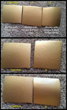 Worbla Tests - Making Worbla Smooth We did some testing with Worbla, Gesso, Mod Podge Spray Sealer, and Plasti-Dip. (a more detailed post on...
