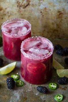 Blackberry Jalapeno Margaritas