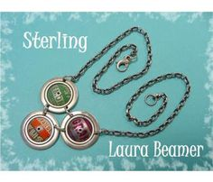 Laura Beamer ~ Pop Culture Soda Beverage Caps Sterling Silver Artist Necklace - $159  FREE SHIPPING