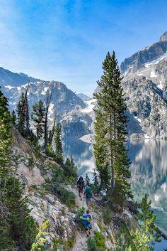 Goat Lake in the Sawtooth mountain Range, Idaho Idaho Travel Destinations Cool Places To Visit, Places To Travel, Places To Go, Travel Destinations, Mountain Art, Mountain Range, Mountain Trails, Sawtooth Mountains, Mountain Photography