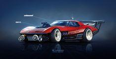 Chevrolet Corvette Stingray Inbound Racer, Yasid Oozeear on ArtStation at https://www.artstation.com/artwork/WXzZE