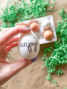 Good eggs: Typography-based egg DIYs are simple and modern