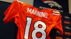 Peyton Manning will wear his No. 18 for the Denver Broncos.