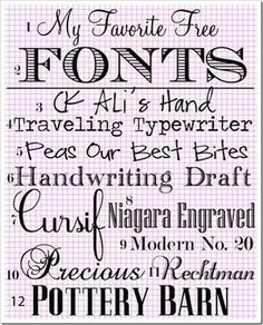 My Favorite Free Fonts Some cool fonts here. Fancy Fonts, Cool Fonts, Awesome Fonts, Pretty Fonts, Schriften Download, Typographie Fonts, Clipart, Digital Scrapbooking, Monogram