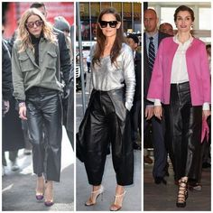 Get the look: Queen Letizia and Olivia Palermo's cropped leather pants