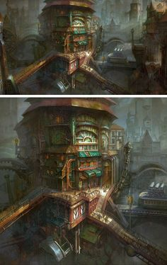 Steampunk Town by Minseub Jung