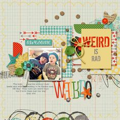 Sweet Shoppe Designs::NEW Releases::New Releases - 6/21::Weird is Rad-Bundle by Meghan Mullens & Studio Basic Designs