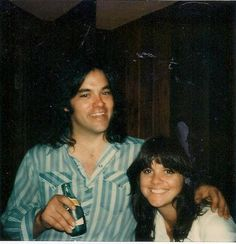 Lowell George and Linda Ronstadt - Polaroid taken by Peter Asher and sent to Bob Lefsetz~ I never met him but, but I do know the rest of Little Feat...love that band.