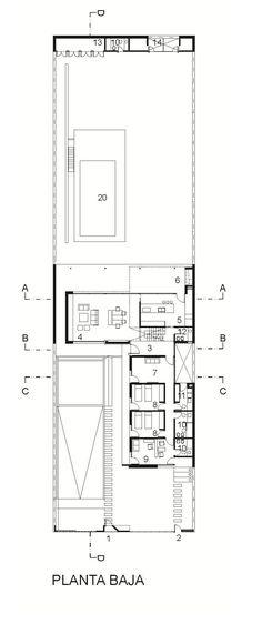 Image 55 of 56 from gallery of House In Villa Belgrano / FKB Arquitectos. Ground Floor Plan