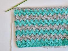 Granny Stripe Baby Blanket Tutorial by Maybe Matilda