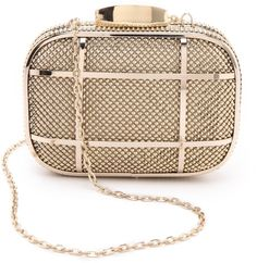Love this  Cage Minaudiere Clutch  Lyst Studded Clutch 3f4d61a118360