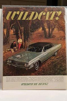 Vintage 1963 Buick Wildcat Car Print Ad | eBay