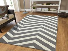 Contemporary Chevron Design 5x7 Gray Zig Zag Rugs 5 By 7 Area Rug Modern Rugs For Living Room, 5x8 Rugs Grey/White