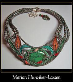 Marion Hunziker-Larsen ~ Macrame Necklace via Macrame Collective