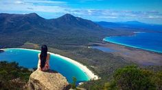 Freycinet National Park is home to dramatic pink granite peaks, secluded bays, white sandy beaches and abundant birdlife. Discover a new side of Tasmania today. Beaches In The World, Sandy Beaches, Tasmania, In The Heart, Mother Nature, Wilderness, Wine Glass, National Parks, Australia
