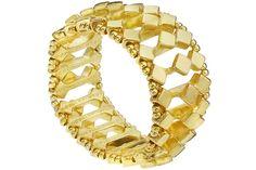 Bracelet Wendy, dorure à l'or fin, Ø60mm Metal Pointu's