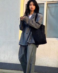 Korean Outfits, Mode Outfits, Chic Outfits, Pretty Outfits, Fashion Outfits, Asian Fashion, Girl Fashion, Womens Fashion, Aesthetic Fashion