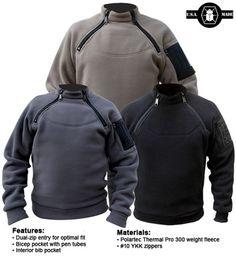 2-Zip Fleece...not sure how this is better than one zip...but it looks cool
