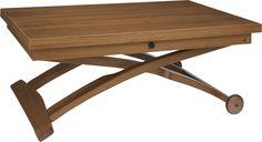 Allessio kan enkelt gjøres om fra sofabord til spisebord. Fåes i valnøtt og hvitt. Dimensjoner: D70 x (laveste)H32,5 x L105 cm, oppreist og utslått: L140 x H74 x D105 cm. Kr. 8500,- Luminaire Design, Picnic Table, Vanity Bench, Drafting Desk, Decoration, Habitats, Furniture, Habitat Table, Home Decor