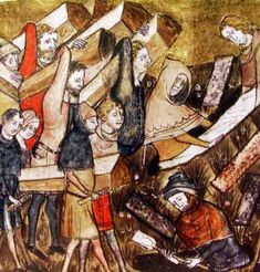 14th Century image of funeral for plague victims in Tournai, Belgium.  From the Chronicles of the Abbot of the Monastery of St. Martin the Righteous