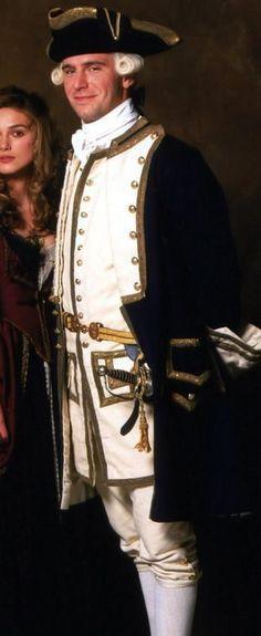 Such a handsome boy. An English actor Jack Davenport as James Norrington in Pirates of the Caribbean. Captian Jack Sparrow, Captain Jack, James Norrington, Elizabeth Swann, Pirate Life, Period Outfit, Keira Knightley, Pirates Of The Caribbean, Handsome Boys