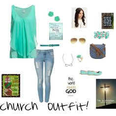 """CHURCH OUTFIT!"" by stephanie1direction on Polyvore"