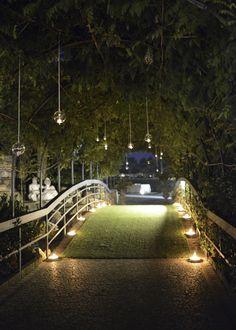 Luci e candele per un matrimonio all'aperto da favola - Villa Giardino Franciacorta