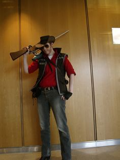 TF2 RED Sniper Cosplay by DrunkenFangschrecke.deviantart.com on @deviantART
