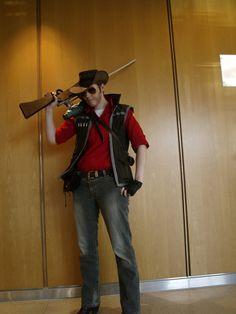 TF2 RED Sniper Cosplay by DrunkenFangschrecke.deviantart.com on @deviantART