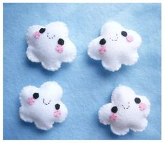Happy Cloud Keychain or Phone Charm Kawaii van HappyCosmos op Etsy